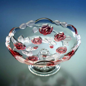 Блюдо Walther-Glas NATASCHA Rose на ножке