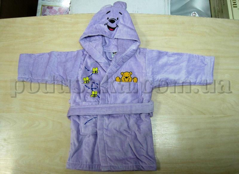 Халат детский Nusa 0-6 месяцев фиолетовый