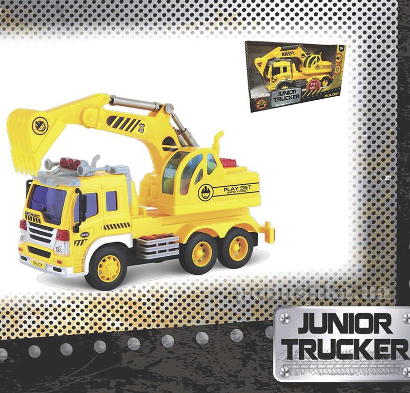 Экскаватор Junior Trucker 28 см со светом и звуком Dave Toy 33011   Dave Toy
