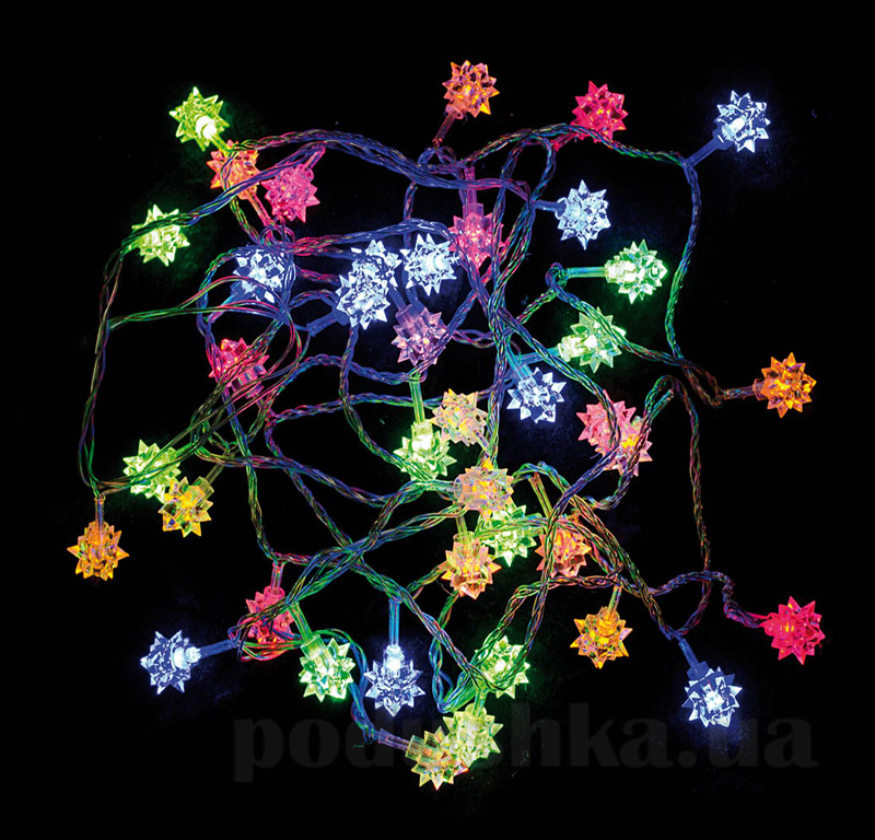 Электрогирлянда многоцветная Бриллиант Новогодько 800719