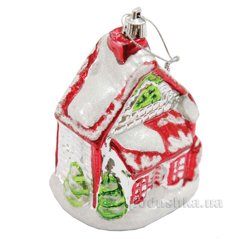 Елочная игрушка Домик красно-зеленый 971838