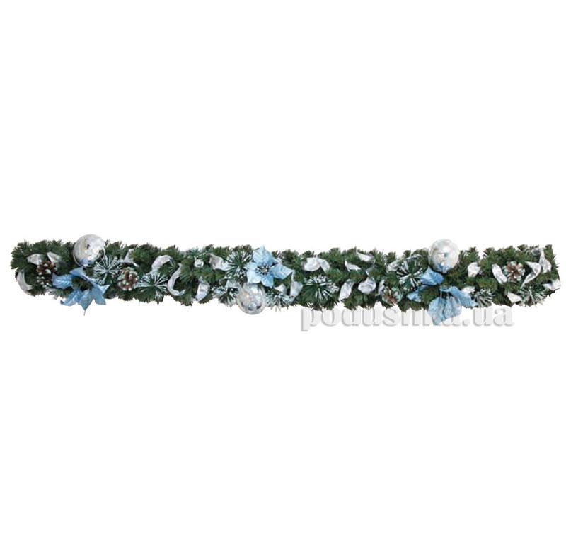 Елочная ветка с украшением Золотая Лилия Новогодько 960233