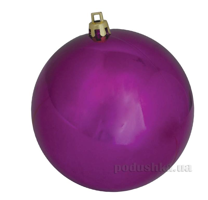 Елочный шар пурпурный глянец Новогодько 971709