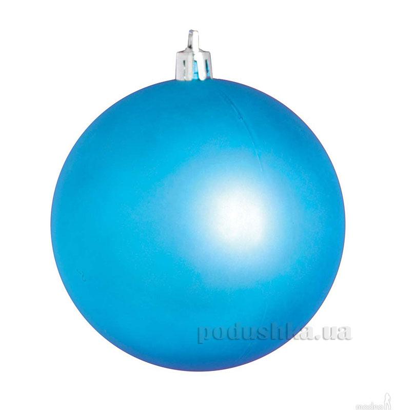 Елочный шар голубой матовый Новогодько 972027