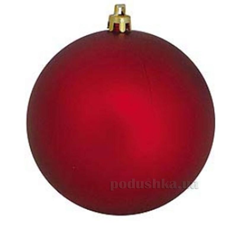 Елочный шар красный матовый Новогодько 971697