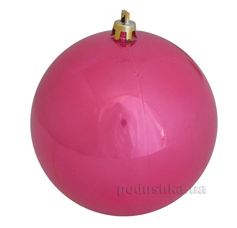 Елочный шар розовый глянец Новогодько 971917