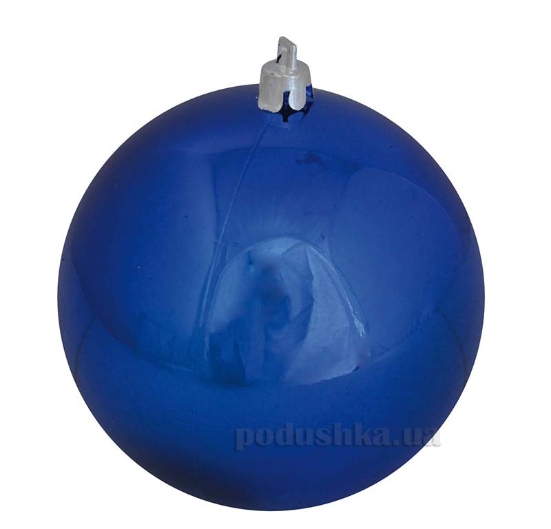 Елочный шар синий глянец Новогодько 971700