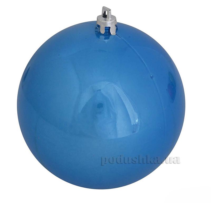 Елочный шар синий перламутр Новогодько 971916