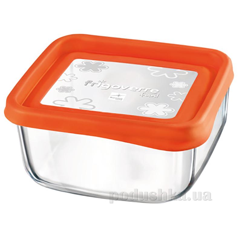 Емкость для продуктов Bormioli Quadra fun 15х15 оранжевая