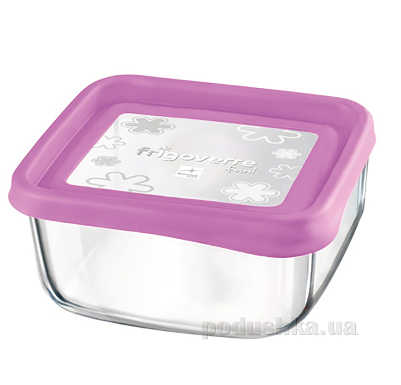 Емкость для продуктов Bormioli Quadra fun 15х15 розовая