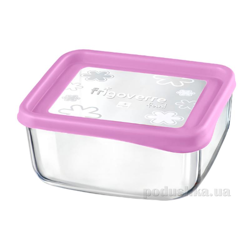 Емкость для продуктов Bormioli Quadra fun 19х19 розовая