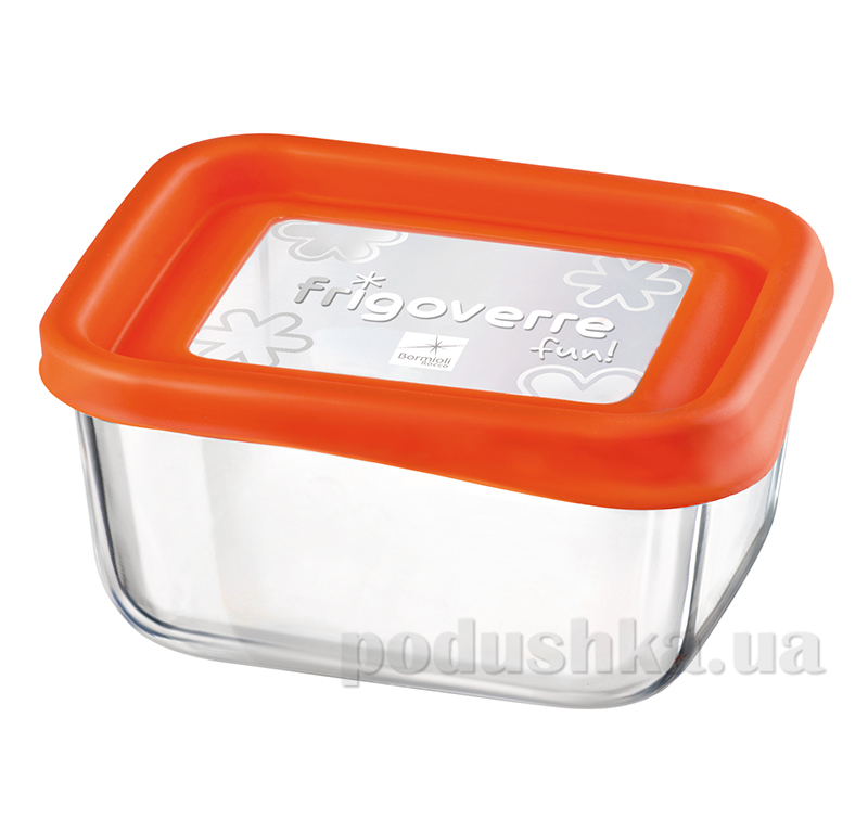 Емкость для продуктов Bormioli System fun 13х10 оранжевая