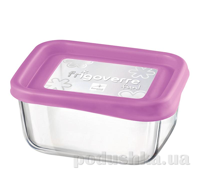 Емкость для продуктов Bormioli System fun 13х10 розовая