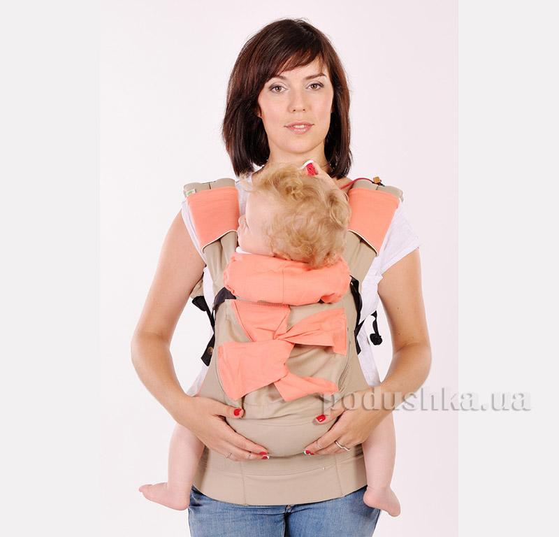 Эрго рюкзак коралловый Модный карапуз My baby 03-00345