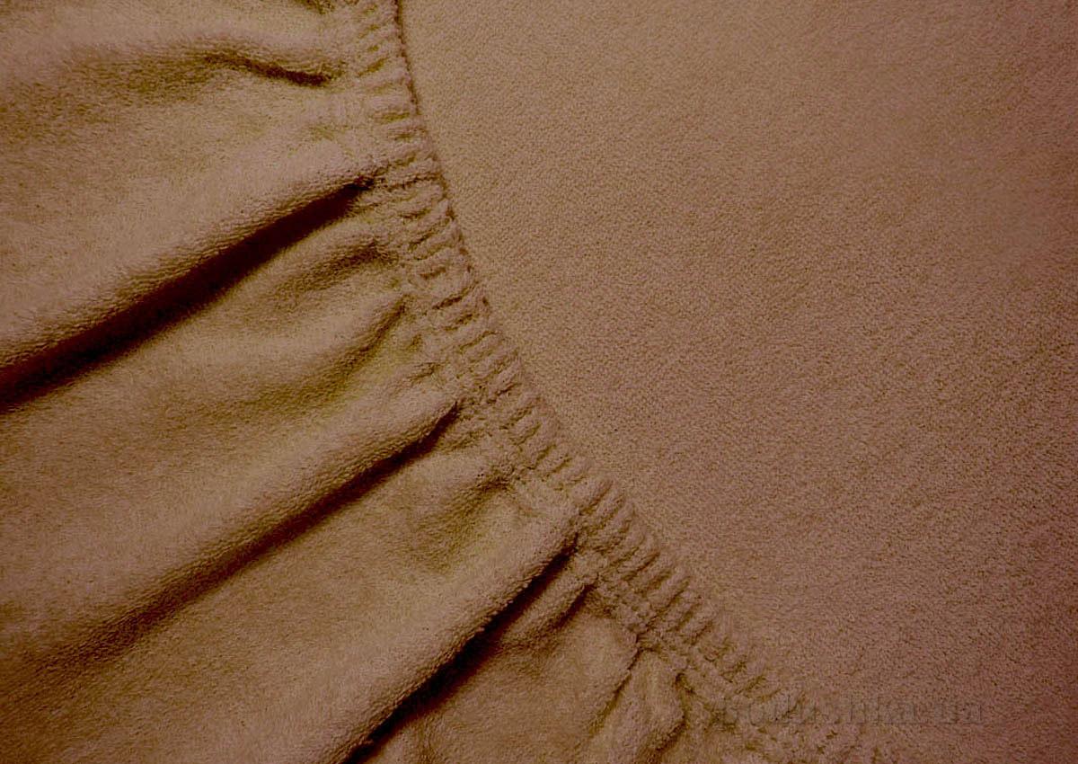 Простынь махровая Arya TR1002125 коричневая 200х220 см  ARYA