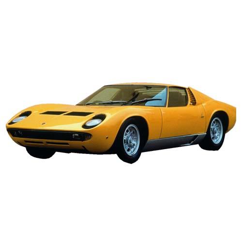 Автомодель - Lamborghini Miura (1968) (оранжевый, 1:18)