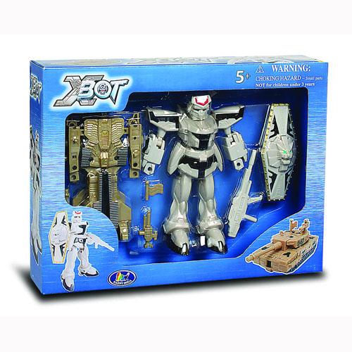 Игровой набор - Робот-Трансформер (15 см), Танк (бежевый), Воин