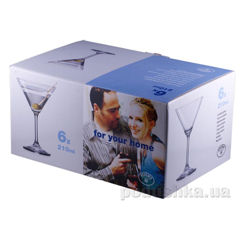 Набор бокалов для мартини Bohemia Лара 210 мл 6 шт. 40415/210   Bohemia