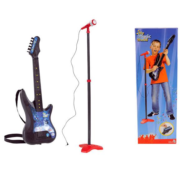 Гитара и микрофон со стойкой