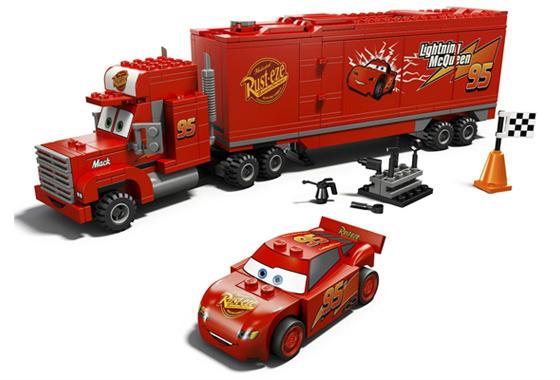 Лего Трейлер Мака Машинка красная