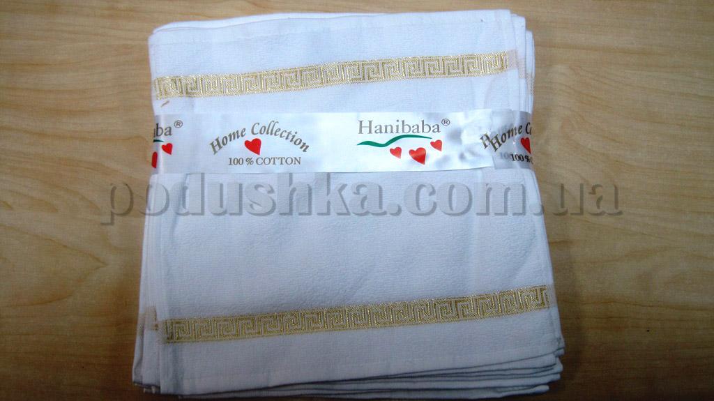 Набор махровых кухонных полотенец Hanibaba Грек белый