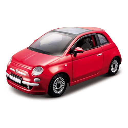 Автомодель - Fiat 500 (2007) (ассорти бронзовый металлик, красный, 1:32)