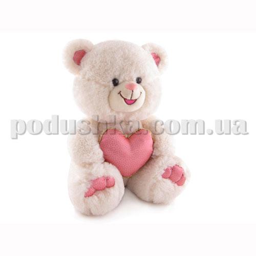 Мягкая игрушка - Медведь с блестящим сердцем