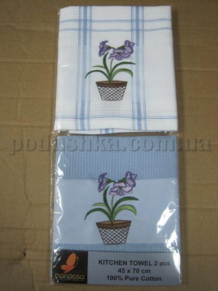 Набор вафельных кухонных полотенец Mariposa Цветочек