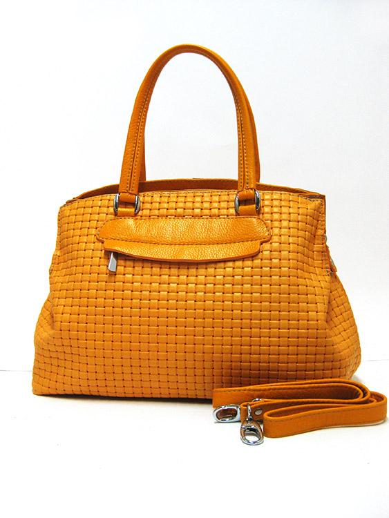 Сумка из натуральной кожи Artis Bags 762 желтая
