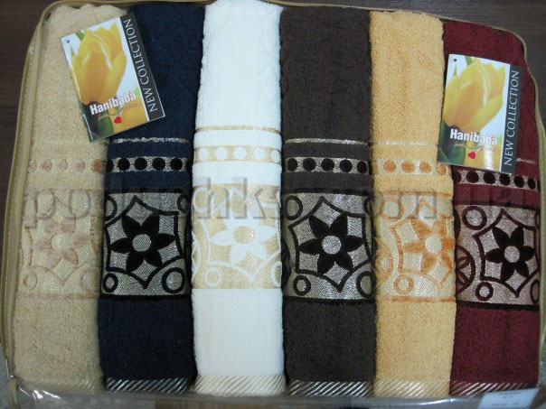 Набор махровых полотенец Hanibaba Hitit