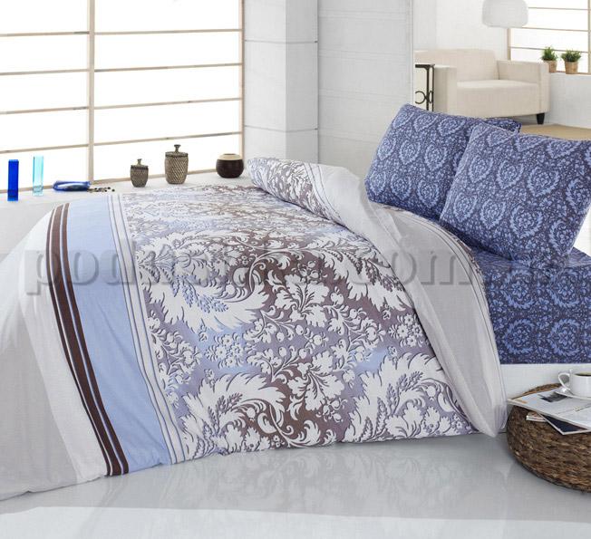 Постельное белье Romeo soft Damask голубой