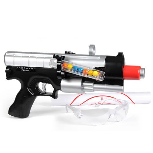 Набор для пейнтбола серии - PREDATOR - PR1200 (пистолет, мишень, очки, пули)