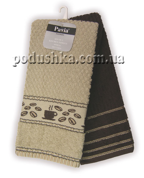Набор полотенец PAVIA кухня KAHVE-TOPRAK