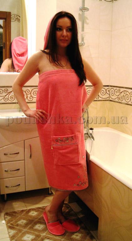 Набор для сауны женский Nusa NS-030 розовый
