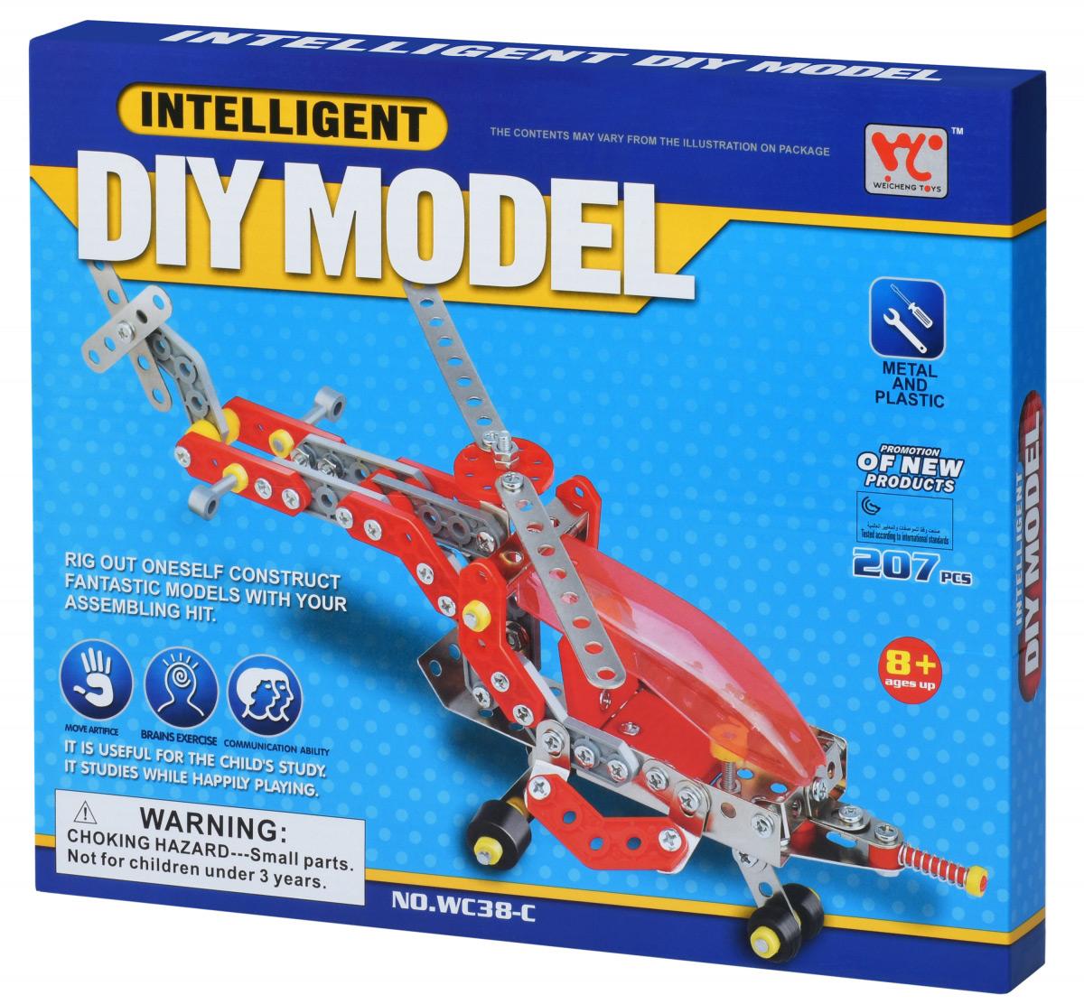 Конструктор металлический Same Toy Inteligent DIY Model Самолет 207 эл WC38CUt