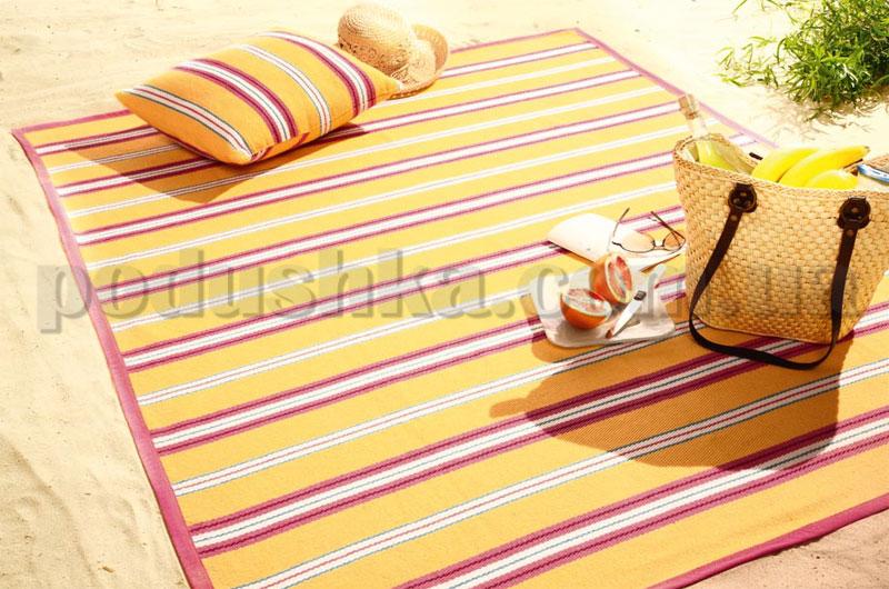 Плед с подушкой Sunrise желтый 586216 Bocasa подушка 50х50 см  Biederlack Borbo-Bocasa