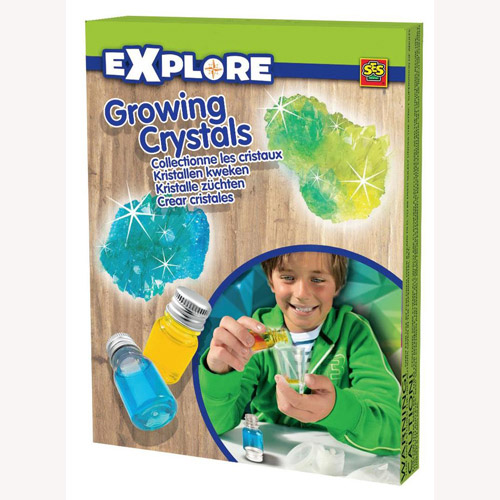 Набор серии Исследователь - Растущие Кристалы (зеленый, синий, инструменты)