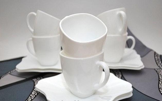 Сервиз Luminarc AUTHENTIC белый 220мл для чая