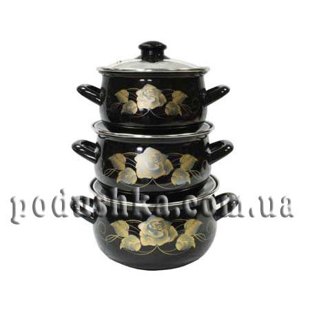 Набор посуды 3 предмета Золотая Роза