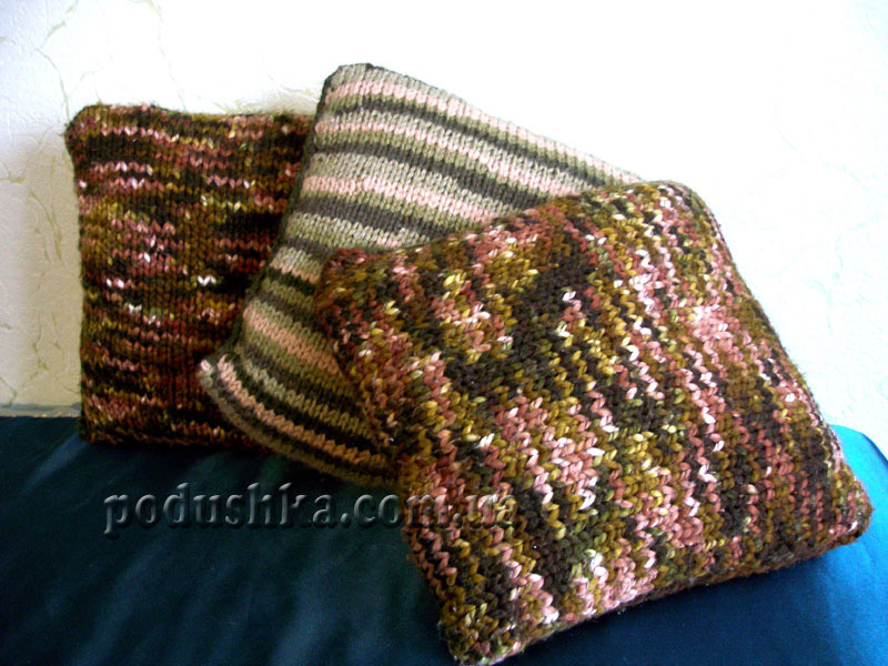 Меланжевая подушка (ручная работа)
