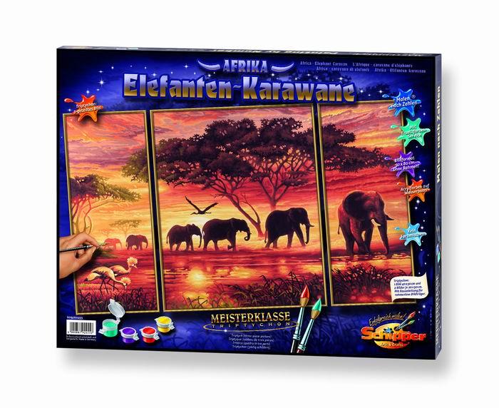Художественный творческий набор Африканские слоны 3 в 1