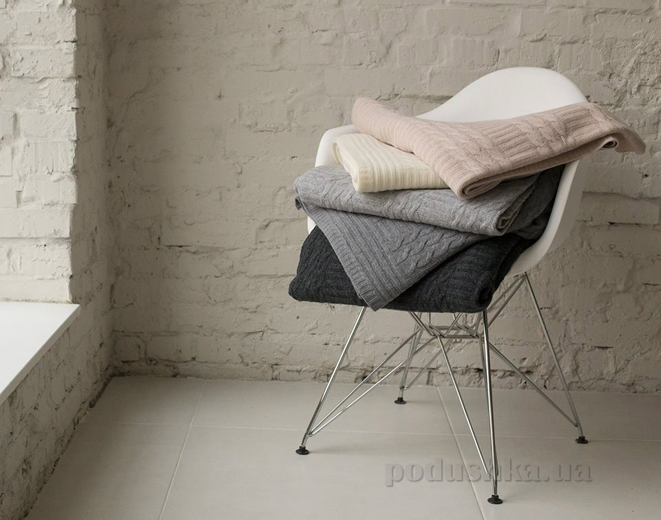 Вязанный плед из шерсти Sleeper Set Grey 160х200 см  Sleeper Set