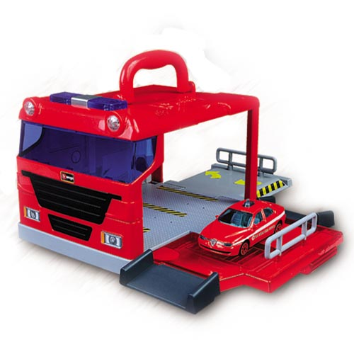 Игровой набор - Пожарная станция (переносной, 1 машинка)