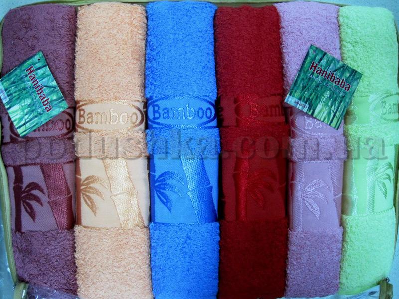 Набор махровых полотенец Hanibaba Exsklusive bamboo однотонный