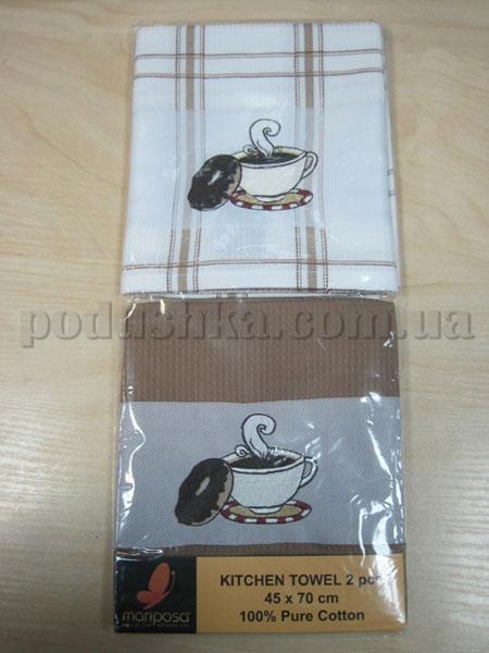 Набор вафельных кухонных полотенец Mariposa Чашка и плюшка