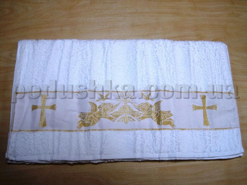 Крыжма для крещения бамбук Hanibaba 70х140 Ангелы