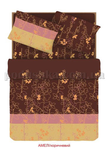 Постельное белье Home line Амели коричневый