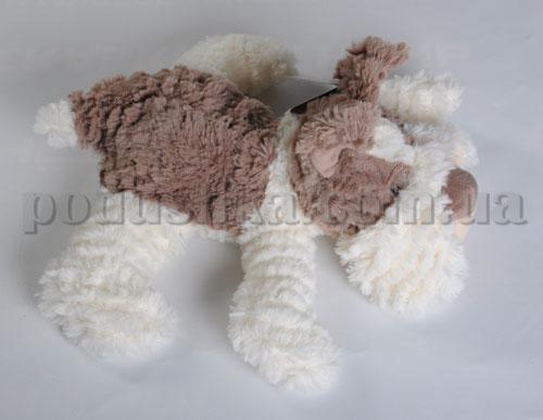 Мягкая игрушка - Собака Тобби коричневая, 40 см