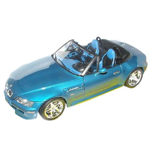 Автомодель - BMW M ROADSTER (голубой, 1:18)