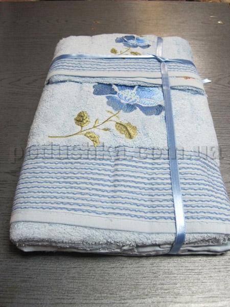 Набор махровых полотенец Mariposa Синий цветок